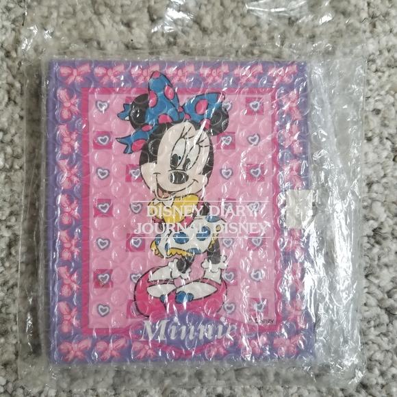Disney minnie locking diary - hardcover